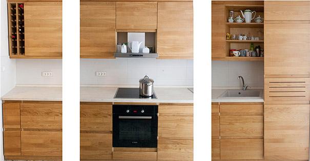 Kuhinja po-meri frontalni pogled