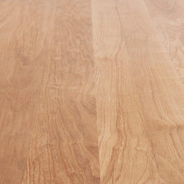 Trpezarijski sto LiveEdgeTable kombinacija masivnog hrastovog drveta i metala
